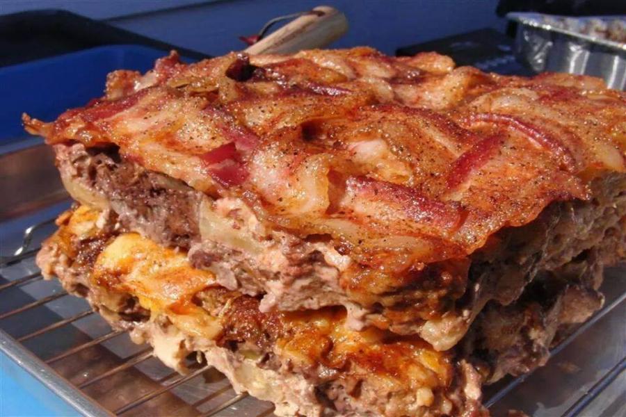 Bacon Birthday Cake Photos